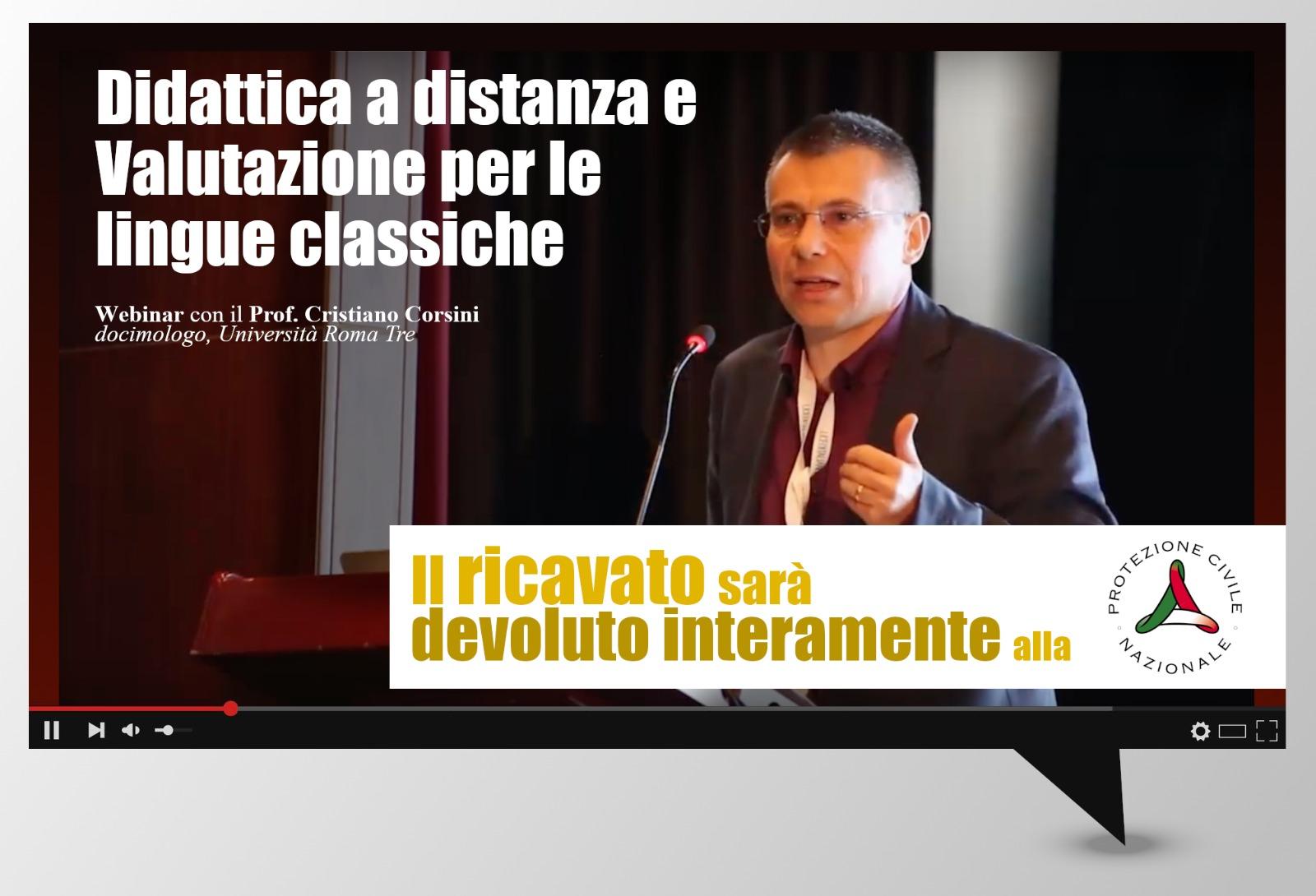 WEBINAR: DIDATTICA A DISTANZA E VALUTAZIONE CON CRISTIANO CORSINI - UNIV. ROMA TRE